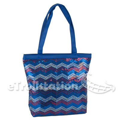 c18b64cbf0b2 Girls Kids Sequin Chevron Wave Shoulder Dance Gymnastics Cheer Shopping  Tote Bag