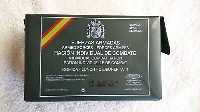 Spanish Mre Ration Pack, Menu A-1 Lunch, Camping,hiking,fishing,airsoft,survival