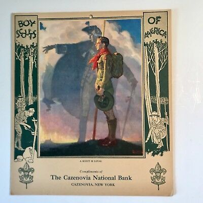 Boy Scout Record - 1930, Norman Rockwell, 8 pages, Excellent Condition