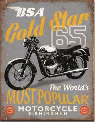 BSA Gold Star The Most Popular Motorcycles In The World Nostalgic Tin Metal Sign