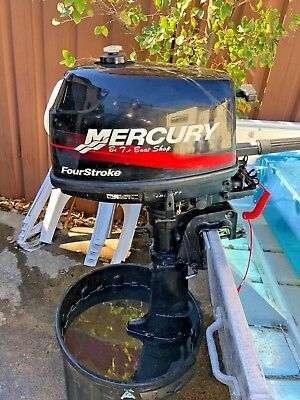 4hp Mercury 4 Stroke Outboard - includes external tank and line