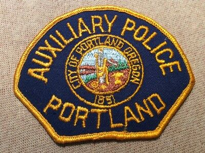 OR Portland Oregon Auxiliary Police Patch