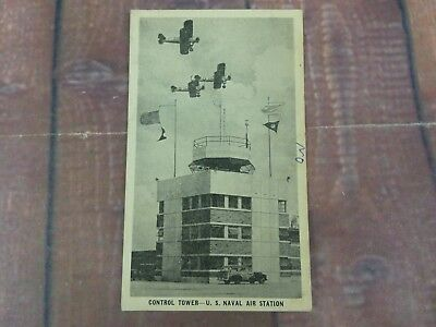 Control Tower U.S. Naval Air Station 4th of July Bi-Planes Woody Wagon 1940's