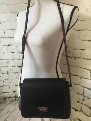 4ad73627ef3a Kate Spade Nwt Avva Arbour Hill Leather Purse Bag Crossbody Black Pink