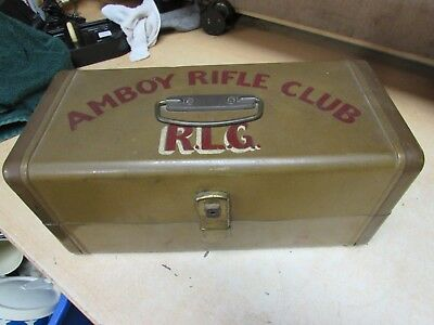 Robert L. Goldsmith WW2 POW amboy rifle club conneaut ohio TACKLE BOX