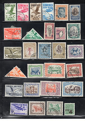 Liberia Africa Stamps Canceled  Used And Mh  Lot 28025