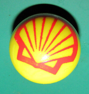 Shell Gasoline Glass Advertising Marble Gas Fuel Oil 1""