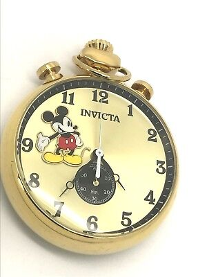 Invicta 22746 Disney Limited Edition Gold Chronograph Mickey Mouse Pocket Watch