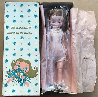 "Vintage 8"" Betsy McCall Doll original box minty Tosca Hair w/chemise,socks,shoes"