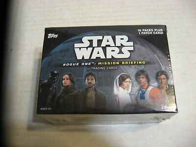 2016 Topps Star Wars Rogue One Mission Briefing trading cards Factory Sealed Box