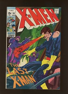 X-Men 59 VF 8.0 * 1 Book Lot * Do or Die Baby! Neal Adams!