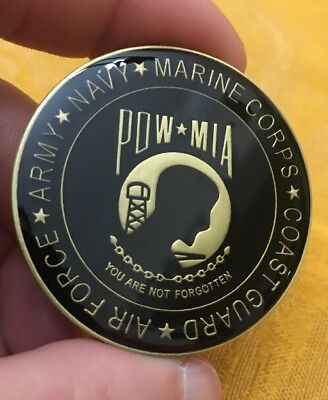 POW/MIA Challenge Coin You Are Not Forgotten Challenge Coin