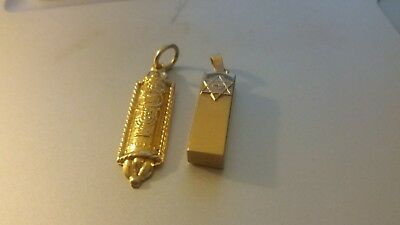 """14k Jewish Mezuzah lot of (2) charms, NWOT. """"PRICE REDUCED TO SELL"""""""