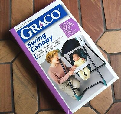 New In Box Graco Snap-On Royal Blue Canopy For Baby Swings