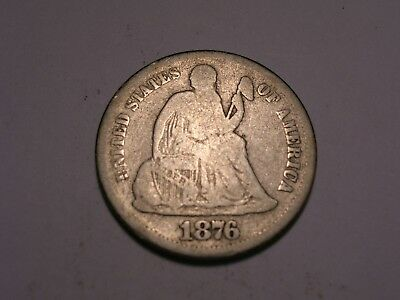 1876 S Seated Liberty Dime (Attractive)