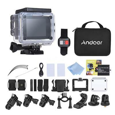 Andoer 4K 30fps 16MP WiFi Sports Action Camera 1080P Full HD Waterproof 30m DSLR