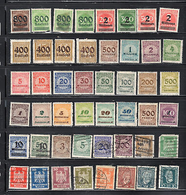 Germany I Stamps Canceled & Mint Hinged  Lot 28065