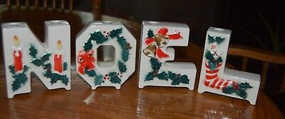 Lipper and Mann creations NOEL candle holders