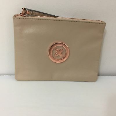 MIMCO MEDIUM SUPERNATURAL POUCH PANCAKE Leather Rose Gold Badge - CLEARANCE New