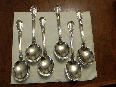 6 Gorham Sterling Silver Chantilly Spoons   Old Mark