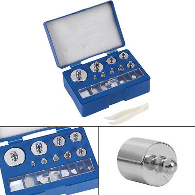 17Pcs 10mg-100g silver Grams Precision Calibration Weight Digital Scale tool kit