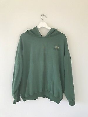 Vintage Lacoste Green Hooded Sweater