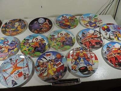 Disney McDonald's Olympic and Seasonal Collector Plates 13 Plates Total Lot