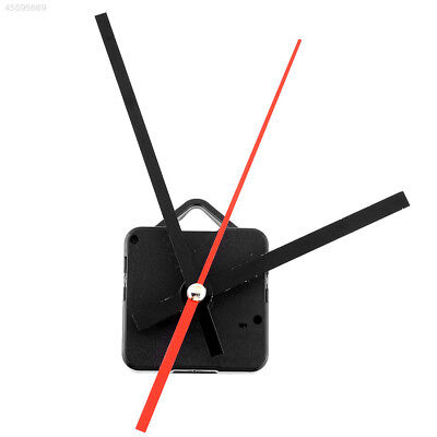 Hot Silent Retro Quartz Clock Movement Black+Red Hands Mechanism Repair Kit DIY