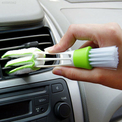 2 Heads Car Auto Air Condition Vent Brush Computer Keyboard Duster Tool