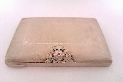 Beautifully Engraved Solid Silver Ladies Compact Case Circa 1973