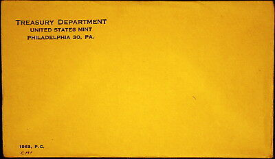 1963 US Proof Set Mint Sealed, in Sealed Original Envelope - Unopened