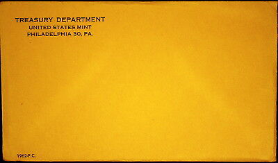 1962 US Proof Set Mint Sealed, in Sealed Original Envelope - Unopened