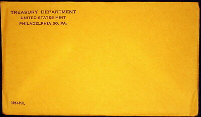 1961 US Proof Set Mint Sealed, in Sealed Original Envelope - Unopened