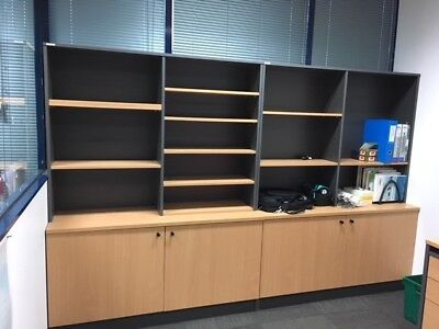 Office or Board room cabinet with attached shelving