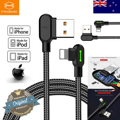 Mcdodo Elbow Lightning Cable For iPhone 11 X 8 7 6s Plus iPad Charging Data Cord