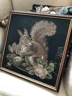 "Elizabeth Bradley "" The Squirrel"" Completed Tapestry - RARE"