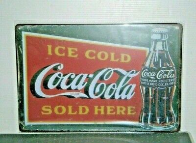 CCRMS43 Coca - Cola Metal Sign 20 cm H X 30 cm W New