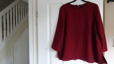 Women's Burgundy Maternity top Topshop size 12 Used