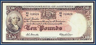 Australian 10 Pound note 1960 Coombs/Wilson WA/46-719929 R-63  Reserve. bank