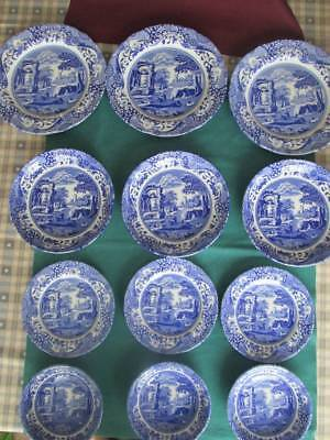 Spode Italian Blue Dinner Plates, Pasta Bowls, Side Plates & Bowls Selection New