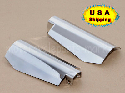 Chrome Memphis Shades Metal Hand Guard Coffin Cut for Harley Dyna FXDXT FXDL USA