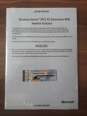 Microsoft Windows Server 2012 R2 Datacenter 2CPU inkl. Datenträger HP-ROK