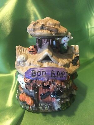 Ceramic Halloween Town* BOO BAR * Spooky Haunted Village *