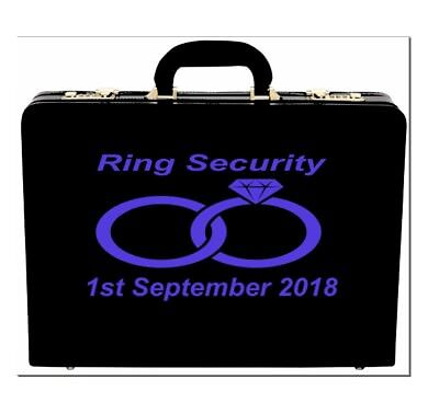 Personalised Wedding Ring Security Box Vinyl Sticker Decal Many Colours V42