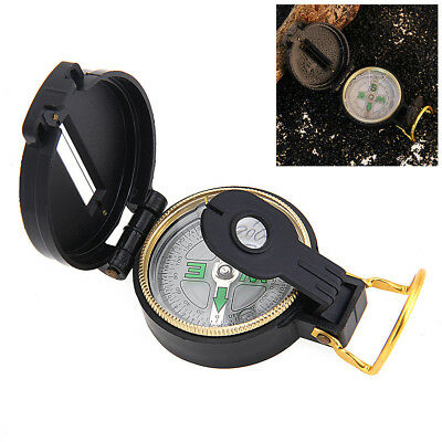 BOUSSOLE STYLE MILITAIRE LOUPE SYSTEME VISEE CAMPING RANDONNEE SCOUT TREKKING