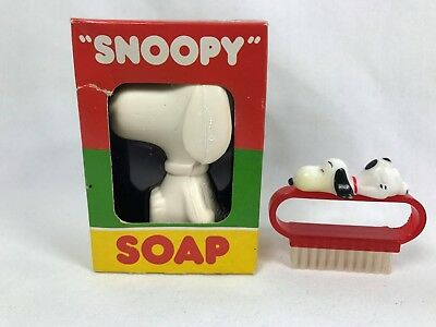 Vintage Peanuts Snoopy Soap NRFB + Nail Brush