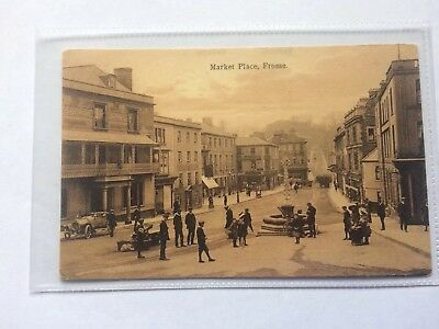 Frome postcard. Early Postcard Showing Early Transport OutSide The George Hotel