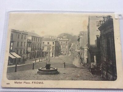 Frome postcard. Early View Of the Market Place and Boyle Cross