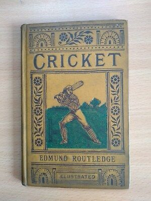Antique Book 'Cricket' by Edmund Routledge 1885 in good condition