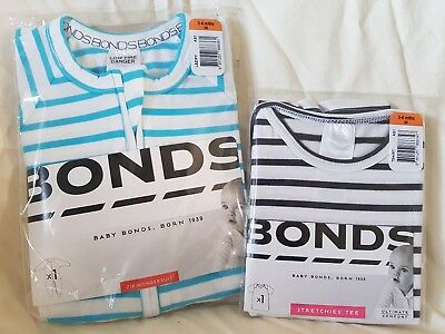BONDS: Zippy Wondersuit AND Stretchies Tee. Size 00 (3-6 months). BRAND NEW